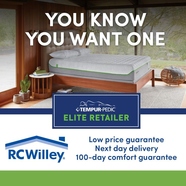 rc willey is proud to be a tempurpedic elite retailer