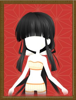 Shrine Maiden Hair (Black) Shall we date?: Blood in Roses+  Set Bow - Ready Set Bow