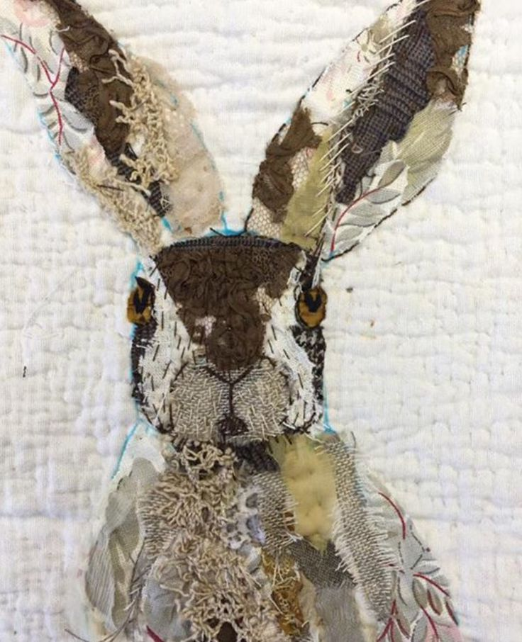 Mandy Pattullo - Textile collage, thread and fabric scraps