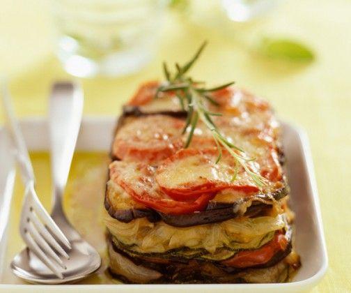 Le tian provencal on peut ajouter de la creme+feta+herbes ou tranches de mozza