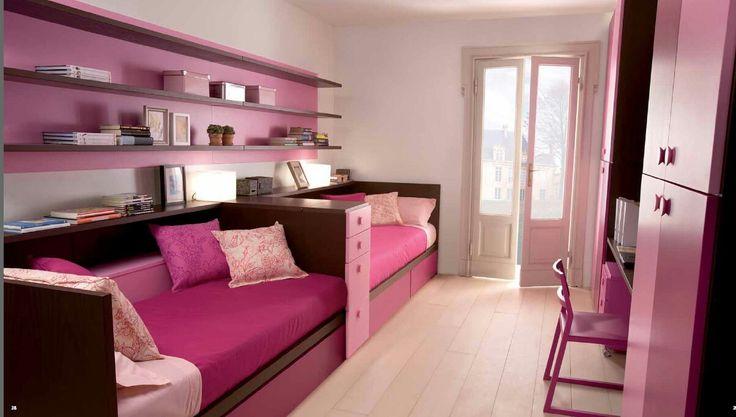 Маленькую комнату легко можно переделать в уютную комнату для двух девочек!