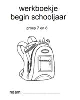 Werkboekje begin schooljaar, met handige afsprakenbladzijde