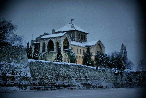 My hometown Tata (Hungary) in winter