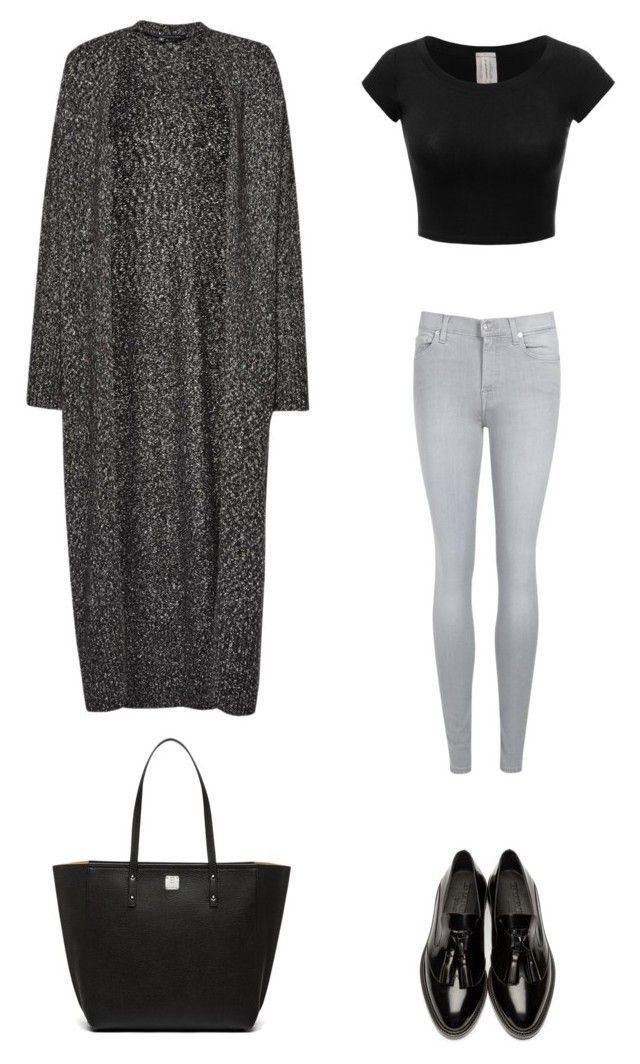 """Untitled #119"" by shanitadinda on Polyvore featuring 7 For All Mankind, French Connection, Burberry and MCM"