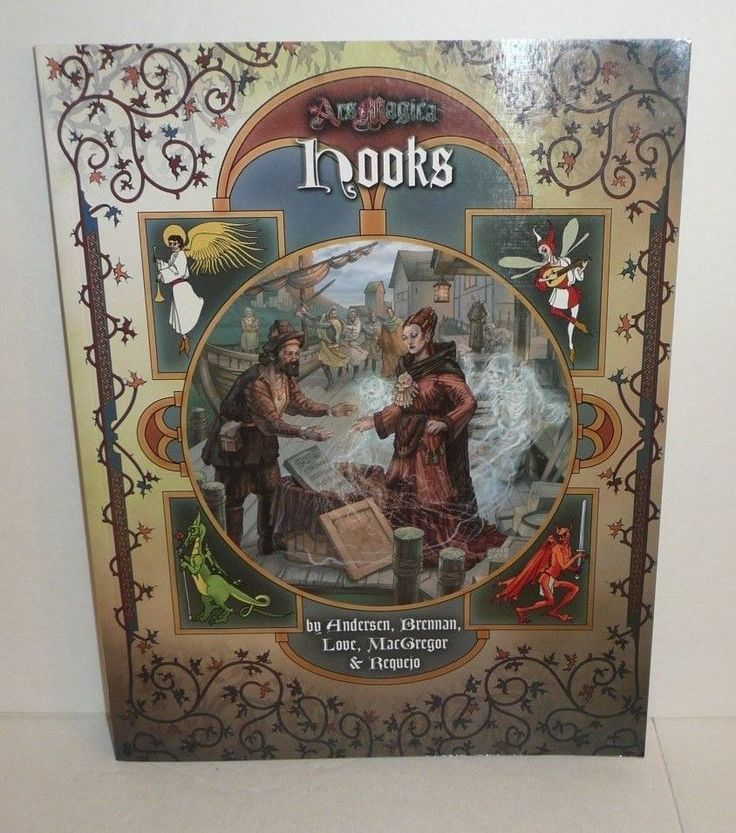 HOOKS Ars Magica RPG Gaming Book Softback Atlas Games 2014 Scenarios 5th Edition #AtlasGames