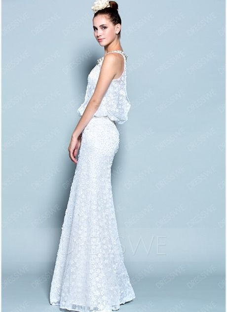 Buy Fashion Concise Lace Floor Length Evening Dress  Online, Dresswe.Com offer high quality fashion,Price: USD$177.79
