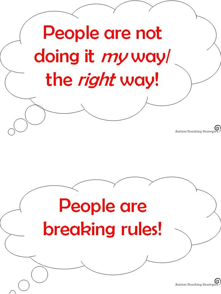 Cognitive Distortion Thought Bubbles--Simple Cognitive Behavioral Method for kids with High Functioning Autism