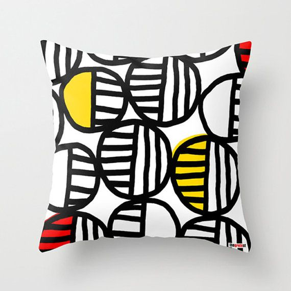 Decorative throw pillow cover Its an original design by ©thegretest. Designed in Europe & made in USA, perfect combination! :)  Throw Pillow Cover