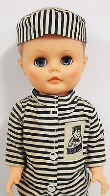 Earle-Pullan-Mister-Bad-Boy-Doll-B-W-Prison-Outfit-Doll-PLaypal
