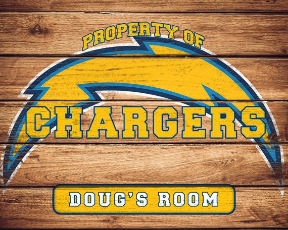 26 best personalized nfl signs images on pinterest babies rooms nfl san diego chargers team sign by faithfamilyfundesign on etsy negle Images