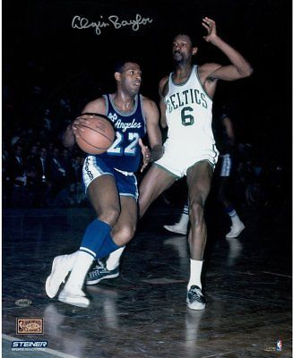 ac0c59b8f998 Elgin Baylor Signed vs. Bill Russell 16x20 Photo  Basketball ...