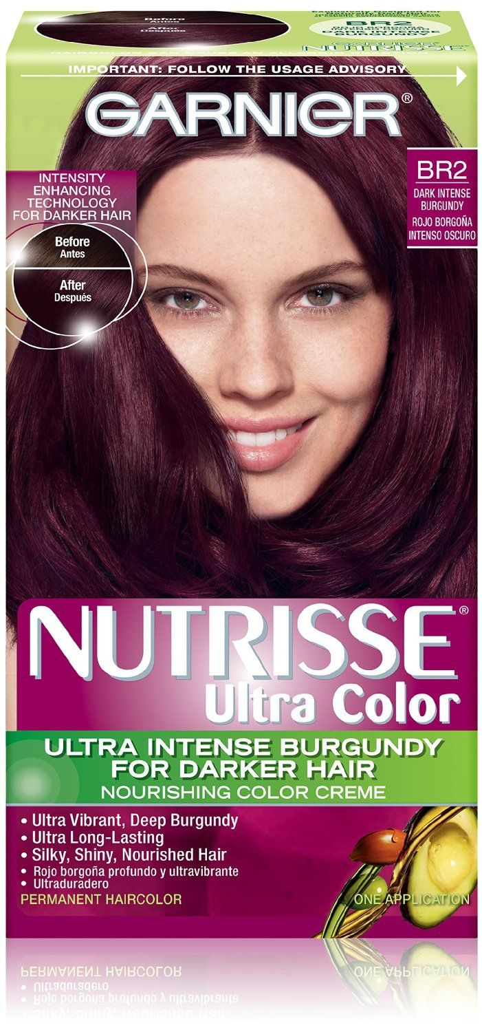 amazoncom garnier hair color nutrisse ultra color nourishing color creme br2 dark - Colores Garnier