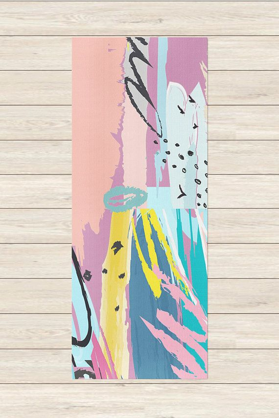 Our flashback friday trendy yoga mat is sure to spark some memories of your childhood when staring at it from down dog. Stay wild, 80s child! > Details < 72 x 24 and 1/8 thick mat made of durable polyurethane to distribute compression evenly. Bottom is green with a diamond texture to keep you from slipping and sliding. Comes with an orange carrying case for easy transport to and from the studio. > Design < Our products are printed in the USA using the best technology with ec...