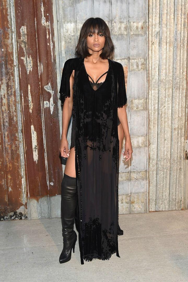 ciara-kış modası-velvet-kadife siyah tuvalet-ünlü modası-nasıl giyilir-kombinlenir