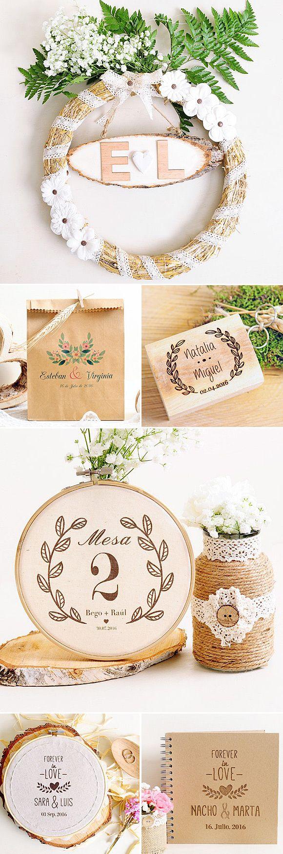 Comprar decoración boda actual con coronas de flores