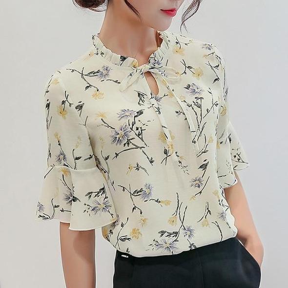 Hot Summer Autumn 2019 Plus Size 3XL Print Shirt Female Big Sizesrricdress
