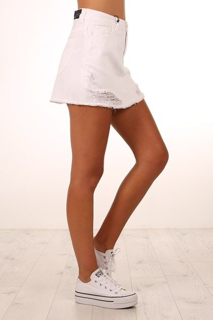 Lola Skirt White Destroy