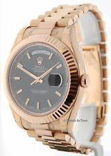 Rolex Day-date Ii 18k Rose Oro Para Hombre Reloj 218235 Nuevo