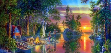 Wallpapers Desktop Backgrounds Summer Evening | Camping at ...