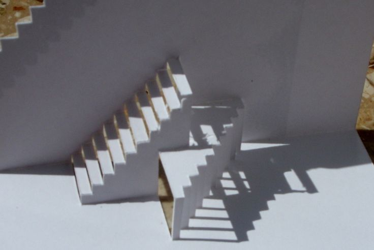 Geometrische Besonderheit PopUp aus einem Stück Papier