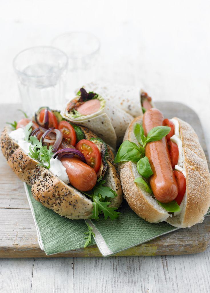 Mediterranean Hot Dog - Hot dog... Mediterranean style!