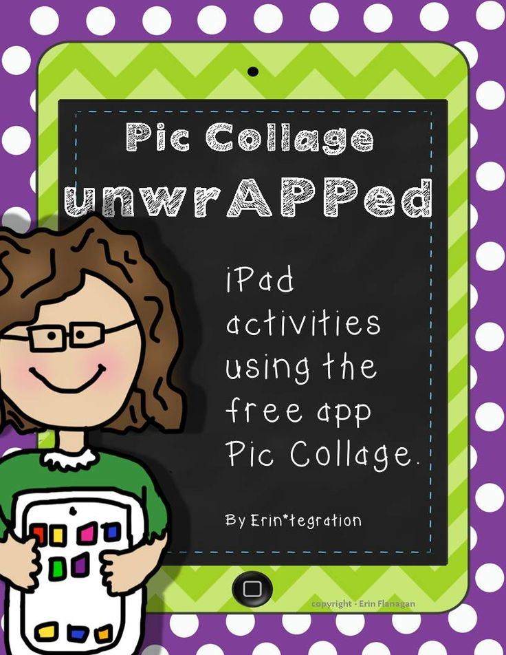 FREEBIE - iPad Technology Integration in 5 minutes.  Print and pass out - students follow directions to make alternate book covers for any book read using the free app Pic Collage. Free