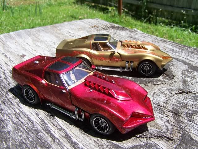 Model cars from the 1978 movie Corvette Summer with Mark Hamill and Annie Potts.