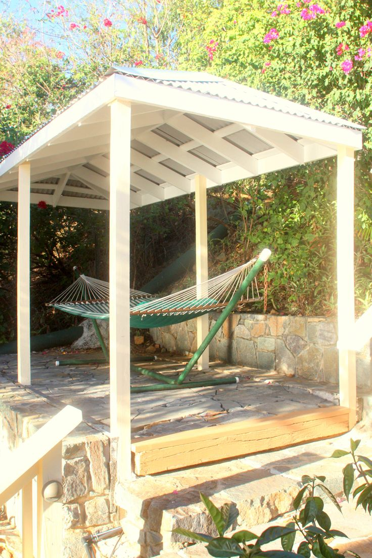 Upon entering Waterklip, through the gate, a private stone path leads you to a large shaded hammock where you can relax, nap or watch one of the brilliant sunsets.