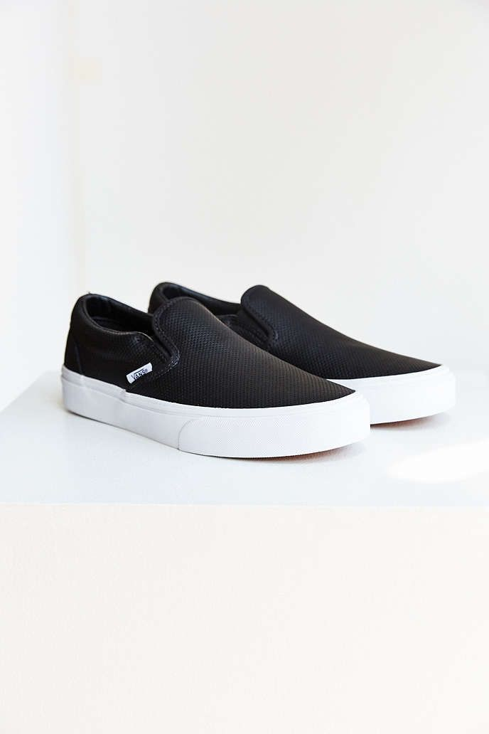 Vans Perforated Leather Slip-On Sneaker