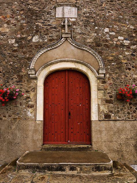 Church Portal, France by theaspiringphotographer: Red Doors, Photos, Aspir Photographers, Church Portal, Awesome Entrance, Close Doors, France, Entrance Doors, Opening Doors