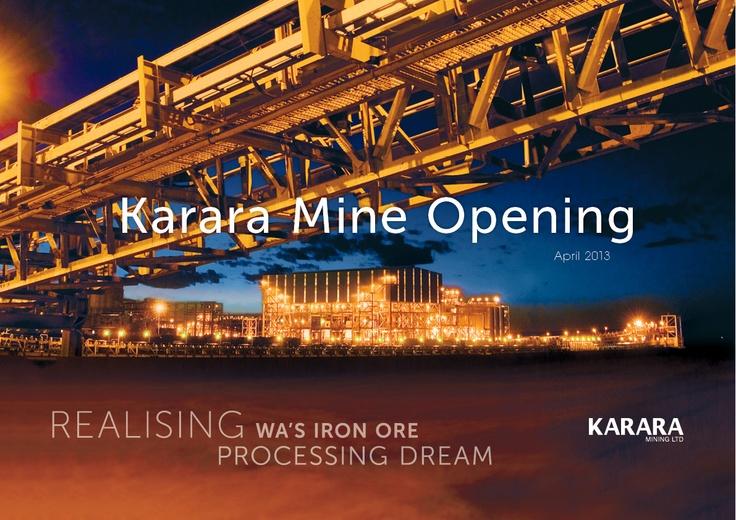 Karara Mine Opening
