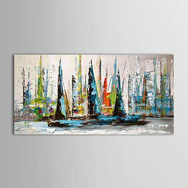 iarts®oil maalaus maisema purjevene venytetty runko valmis ripustaa käsin maalatut kankaat – EUR € 44.09