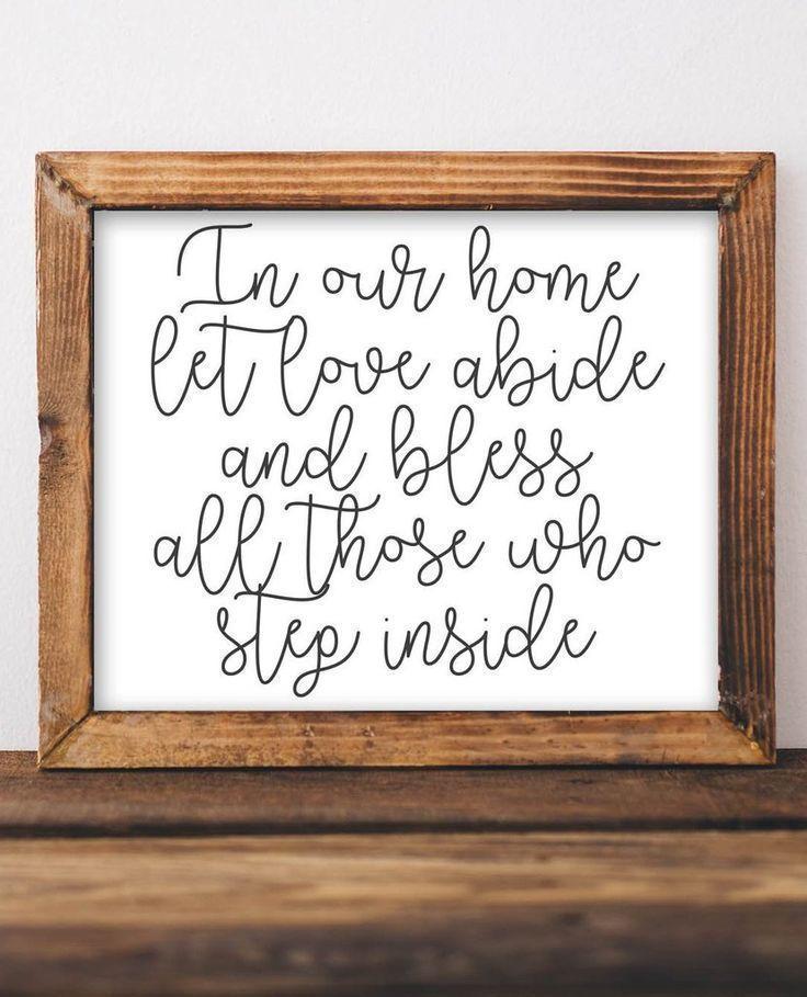 Let Love Abide Printable Entryway Decor Vintage Home Decor