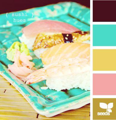 sushi hues very modern colors. Yet still feels retro. It's strange.