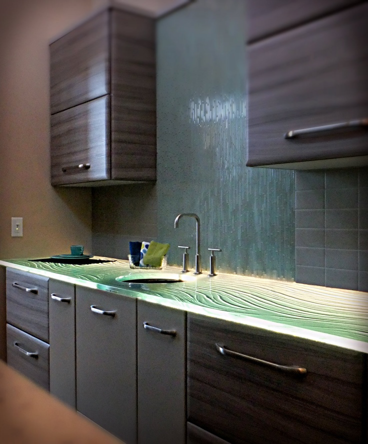1000 Images About Glass Countertops On Pinterest