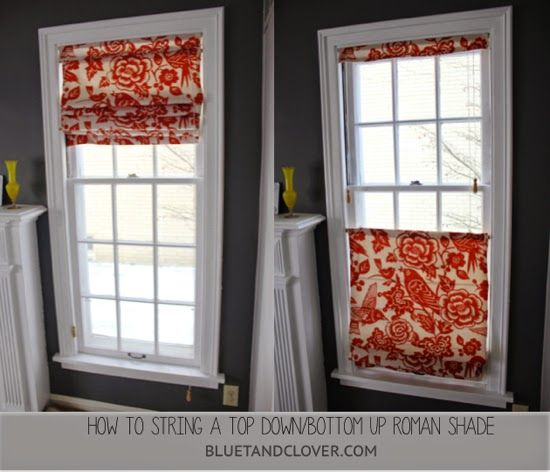 Bluet and Clover: How to String Top Down/Bottom Up Roman Shade