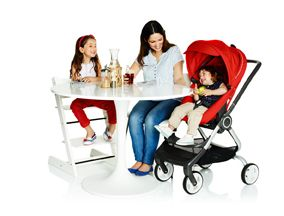 Stokke Scoot doubles as a cafe high chair