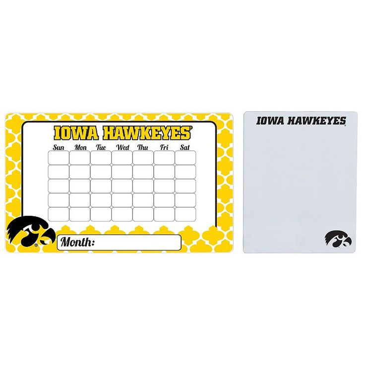 Iowa Hawkeyes Dry Erase Calendar & To-Do List Magnet Pad Set, Multicolor