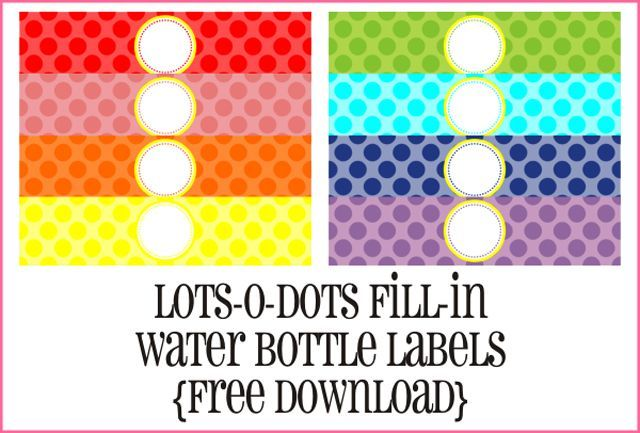 Print Your Own Water Bottle Labels with These 7 Free Sets of Designs: Create Your Own Custom Water Bottle Labels at Piggy Bank Parties