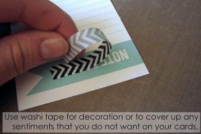 SO simple! Cover with washi tape. http://pebblesinc.blogspot.ca/2013/06/how-to-tuesday_25.html
