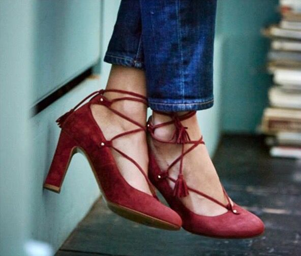 sezane paris red shoes