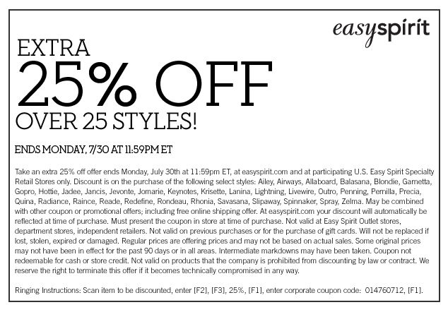 easy spirit Coupons All Active easy spirit Promo Codes & Coupons - Up To 50% off in December If you are on the hunt for comfortable and yet trendy shoes for women, the easy spirit online store has just what you are looking for.