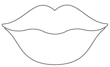 Resultado de imagen para labios beso dibujo