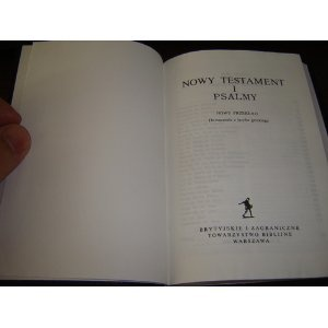 Polish New Testament and Psalms $29.99