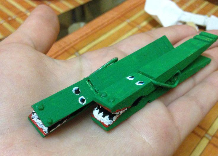 Crocodile  pegs :)
