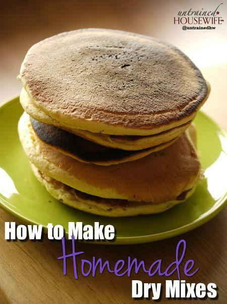 How to Make Homemade Dry Mixes