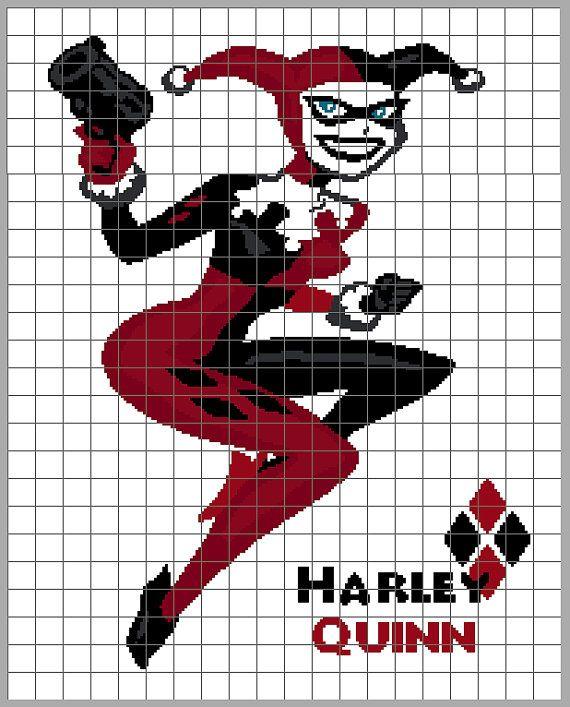 Harley Quinn Graphghan Design Paid Pattern Batman