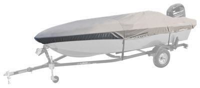 Bass Pro Shops Select Fit Hurricane Boat Covers for Extra Wide Aluminum Fishing Boats - Gray - 15'6'' to 16'5''