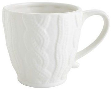 Cable Sweater Mug contemporary cups and glassware