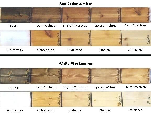 Western Red Cedar Stain Colors